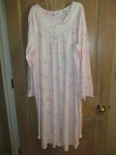 NEW Miss Elaine 2XL Nightgown SLEEPSHIRT Pajamas Loungewear $60 RV Pink Floral
