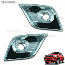 Net Black Fog Lamp Spot Light Cover Trim Fit Toyota Hilux Revo Sr5 M70 M80 2016