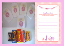 Dirty Nappy/Diaper - pink/girl Baby Shower Game & player sheets