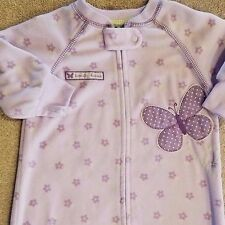 CARTER'S 0-9 MONTH PURPLE FLEECE BUTTERFLY SLEEP BAG ADORABLE