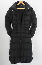 DKNY Active Puffer Down Coat Black Quilted Slim Cut Mid-Calf Size XS