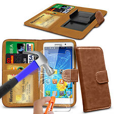 For UMI Max - Clip On PU Leather Flip Wallet Case Cover & Glass