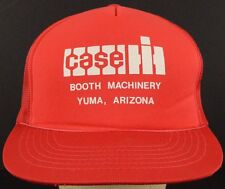 Case Booth Machinery Yuma Arizona Red Trucker Hat Cap and Snapback Strap