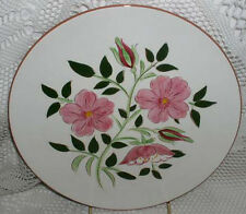 "Stangl Pottery Wild Rose Trenton NJ Dinner Plate 10"" Excellent Condition"