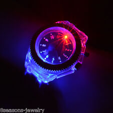 Fashion Women Geneva LED Backlight Crystal Quartz Wrist Watch Sport Waterproof