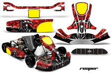 AMR Racing Graphics KG Unico Racing Kart Sticker Decal Kit Wrap REAPER RED