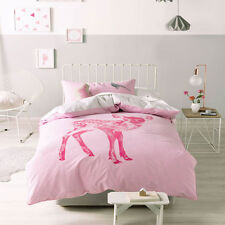 MARIE CLAIR HETTY PINK Girls Single Bed Size Doona | Quilt Cover Set NEW