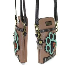 CHALA CELL PHONE Crossbody Purse Handbag - Paw Print - Brown - Brand NEW