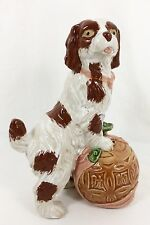 "Vtg Staffordshire/Foo Dog Style 12"" Cocker Spaniel Figurine w/ Asian Ball EX!"