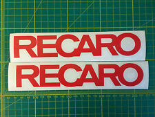 RECARO STICKERS FOR CORSA VXR SEATS x1 Pair VINYL DECAL STICKER