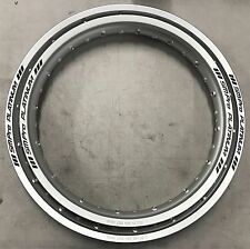 YAMAHA TY250 / 350 S/R/PINKY MONO SM PRO PLATINUM FRONT & REAR RIM SET SILVER