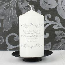 CANDELA personalizzata sentimenti Memorial-In Memoria Amorevole messaggio