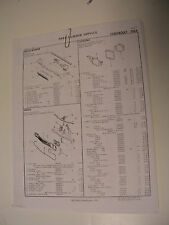 1964 impala Bel Air  Biscayne Crash sheets with part numbers