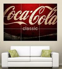 Classic Coca-Cola  Giant Section Wall Art Poster 260gsm