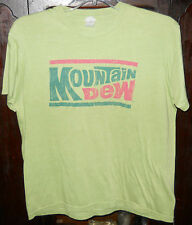 Mountain Dew T-Shirt~Bright Green~Sz L Large~Pepsi Products~Shortsleeve