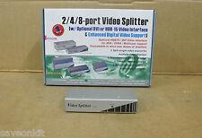 2 Port Video Splitter HDB15 Basic Desktop Console