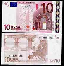 GREECE 10 EUROS 2002 ( 2012 ISSUE )  DRAGHI - Y PREFFIX , N PRINTER- UNC