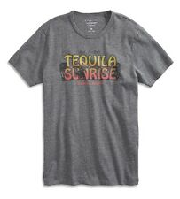 Lucky Brand - NWT - Mens S - Heather Gray Tequila Sunrise Cotton T-Shirt