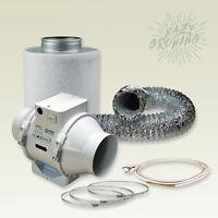 Lüftungsset mit Rohrlüfter und Aktivkohlefilter 220 /280 m³/h 125mm Growbox
