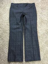 THE LIMITED DREW FIT  Black/Silver Sheen Woven DRESS PANTS Size 12 HOLIDAY K6