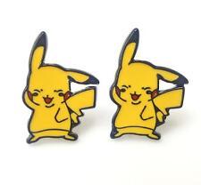 pikachu pokemon sleeping metal earring ear stud earrings anime Studs new