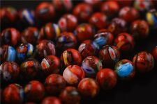 50pcs Glass Gold Stardust Millefiori Stone Beads DIY Necklace 8mm Free Shipping