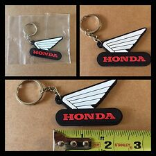 Honda Logo Rubber Keychain. Black White & Red. Just One. All Honda CBR And more
