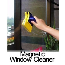 Magnetic Double Sided Window Glass Cleaner Wiper Scraper Brush Cleaning Tool E0X