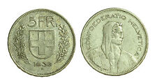 pci1410) Svizzera  Switzerland  Helvetia - 5 Franchi Francs 1939 B not cleaned