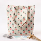 Handmade Cotton Canvas Eco Reusable Shopping Shoulder Bag Tote Pineapple L224 S#