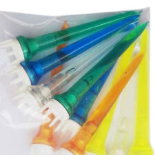 50pcs Mixed Color Plastic Crown Shape Claw Cushion Top Golf Tees 78mm MW