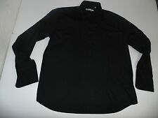 "NEW Ben Sherman black dinner ruffles shirt 17.5"" / xl mens - S3917"