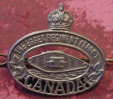 WW2 KC CANADA Canadian Armed Forces ESSEX REGIMENT Tank Armoured Corps cap badge