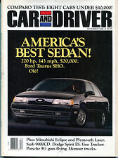 Car and Driver Magazine December 1988 America's Best Sedan Taurus VGEX 122915jhe