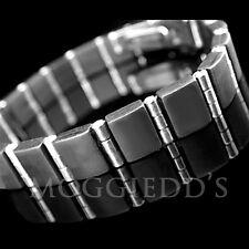 """MENS 316L Stainless Steel & Rubber Bracelet 8 1/2""""   NEW"""