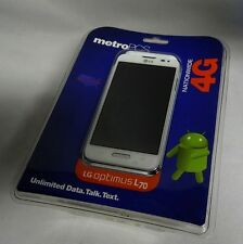 New Metro PCS LG Optimus L70 4g Android Smartphone White No Contract MS323 ✔