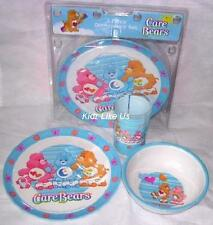 ~ Care Bears - DINNER SET (Plate, Cup, Bowl)
