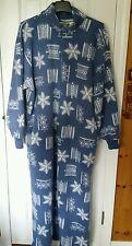 Leisure Wear Adonna Large Snowflake warm Pajamas Women's  VTG PJ's LARGE Zip