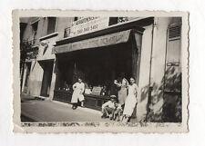 PHOTO ANCIENNE Groupe Boutique Magasin Devanture Alimentation Épicerie Vers 1940