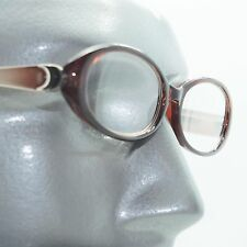 Fun Reading Glasses See Thru Coffee Brown Jelly Whimsy Oval Frame +1.50 Lens