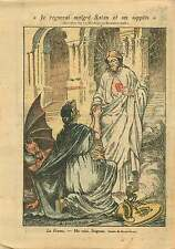 Caricature Religieuse Coeur Sacré de Jésus France Satan Diable 1919 ILLUSTRATION