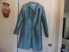 SAROCHINEE MILLENNIUM HILTON  BANGKOK  RARE AND  GORGEOUS LIGHT AQUA SILK COAT S