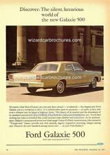 1966 FORD AUST GALAXIE 500 A3 POSTER AD SALES BROCHURE ADVERTISEMENT ADVERT