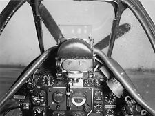 WWII B&W Photo US P-51 Mustang Cockpit NAA  WW2 /5066