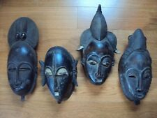 WAS $595 4PCS  ROYAL YOHURE AND BAULE MASKS Headdress African Carving Statue!!