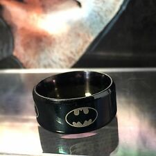 Batman Collectible Cosplay/Fashion/Wedding Band Ring - Black, Gold or Silver