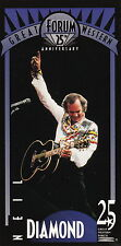 1993 LOS ANGELES GREAT WESTERN FORUM 25TH ANNIVERSARY CARD  - NEIL DIAMOND