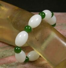 Certified 100% Natural Hetian Nephrite Jade Bead Beads Bangle Bracelet 375397