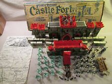 1960's marx playset boxed 54mm prince valent castle fort vikings knights catpult