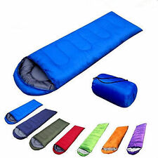 All Weather Folding Thick Indoor Outdoor Camping Sleeping Bag With Case-Blue